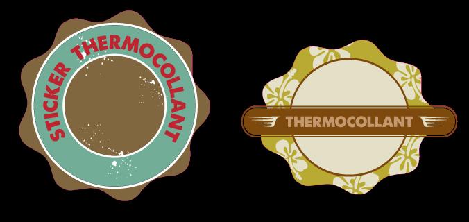 autocollant thermocollants