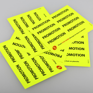 autocollants fluo stickers