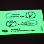 autocollant vinyle phosphorescent