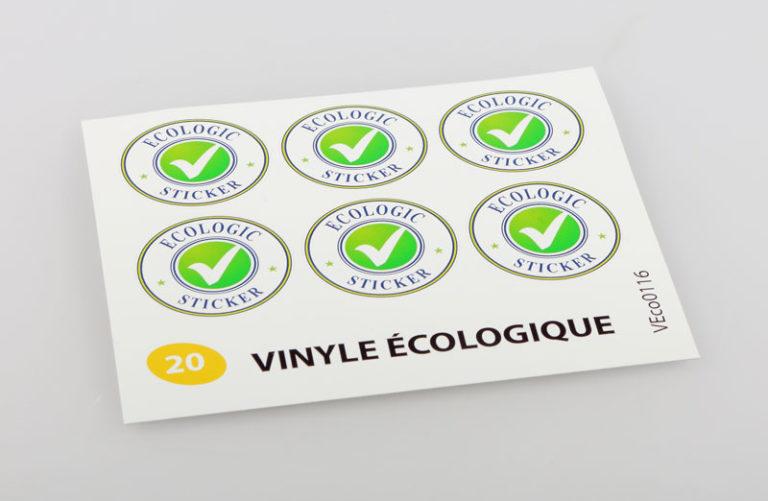 autocollant vinyle ecologique